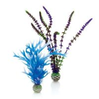 BiOrb Medium Easy Plant Pack OF 2 Purple Blue Reef One Fish Aquarium Plastic